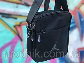 Чоловіча сумка на плече Jordan (чорна) 1276