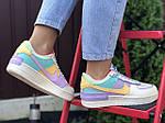 Женские кроссовки Nike Air Force 1 Shadow (бежево-фиолетовые) 9744, фото 2