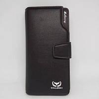 Мужской кошелек клатч портмоне барсетка Wallery business S1063 Чёрный