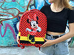 Детский рюкзак Антивор Mickey Mouse (красный) 1280, фото 3