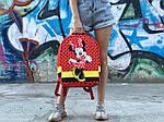 Детский рюкзак Антивор Mickey Mouse (красный) 1280, фото 4