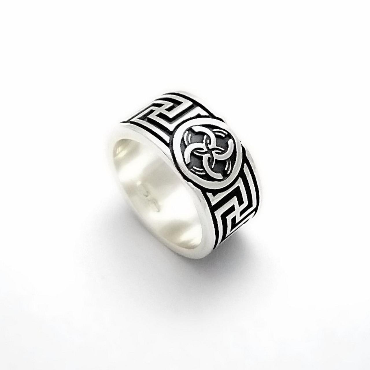 Свадебник Рысич кольцо из серебра 925 пробы (ширина 11 мм)