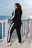 Костюм женский спортивный двойка осень-весна брючки+кофта, разные цвета, р.48-50,52-54,56-58 Код 198П, фото 6