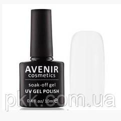 Гель-лак для ногтей AVENIR 10 мл. 001 Біла емаль френч