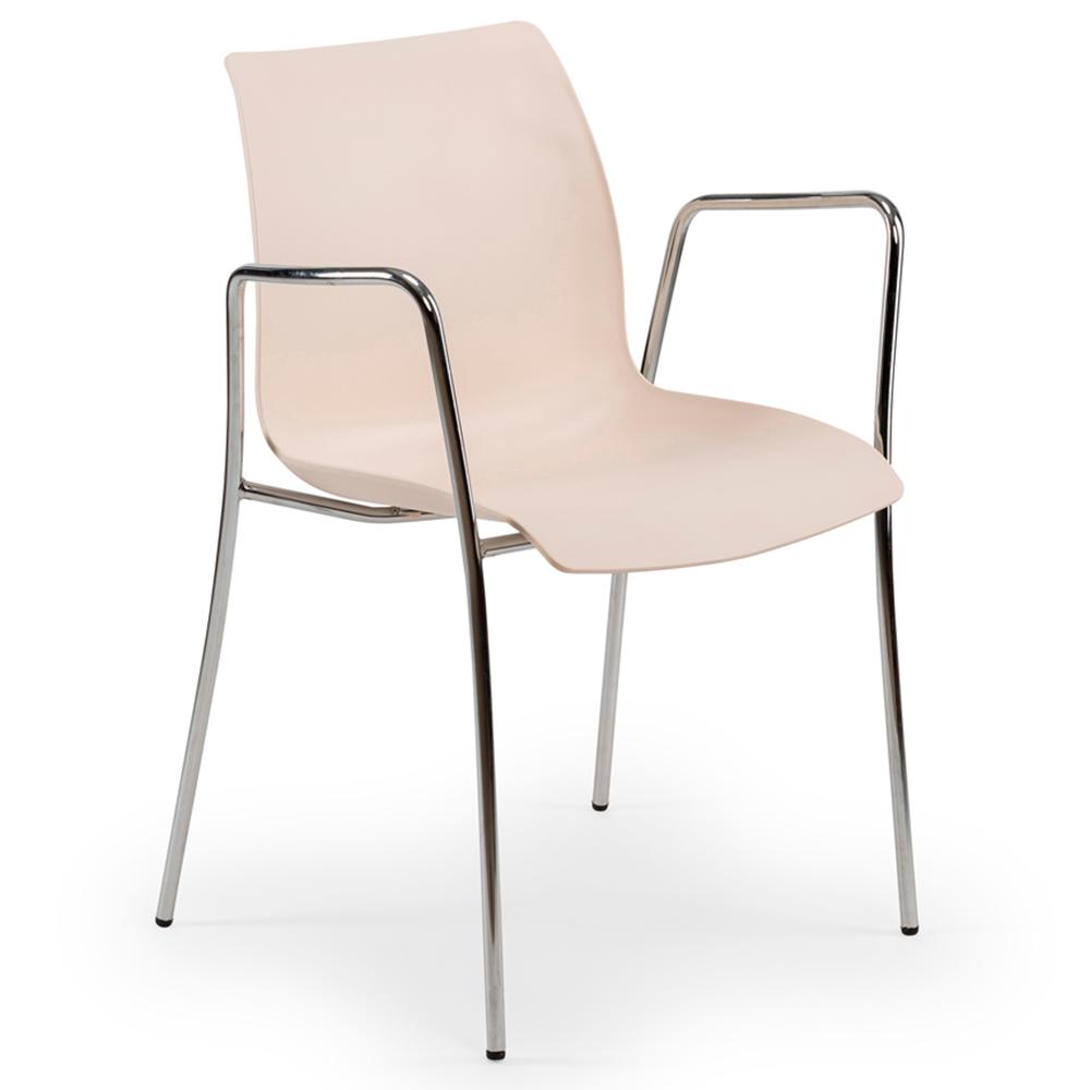Кресло Tilia Laser ножки хромированные кремовое