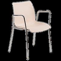 Кресло Tilia Laser ножки хромированные кремовое , фото 1