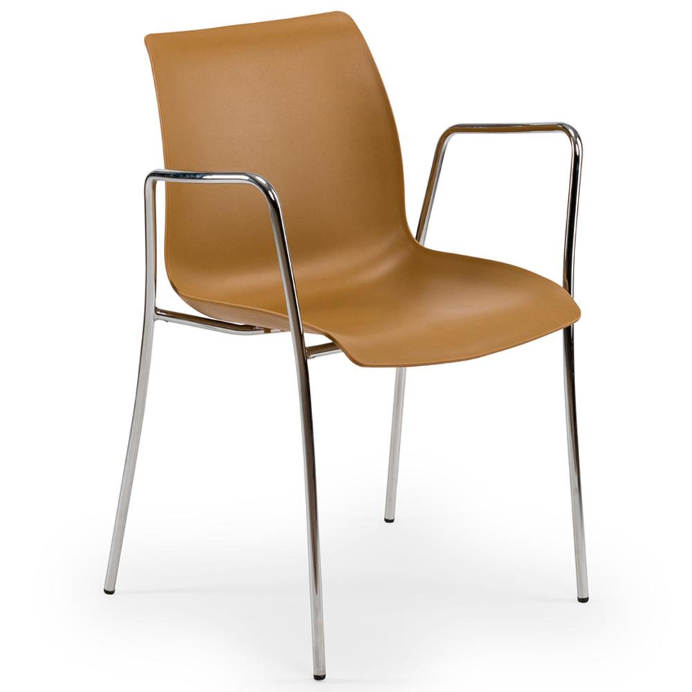 Кресло Tilia Laser ножки хромированные цвет дерево