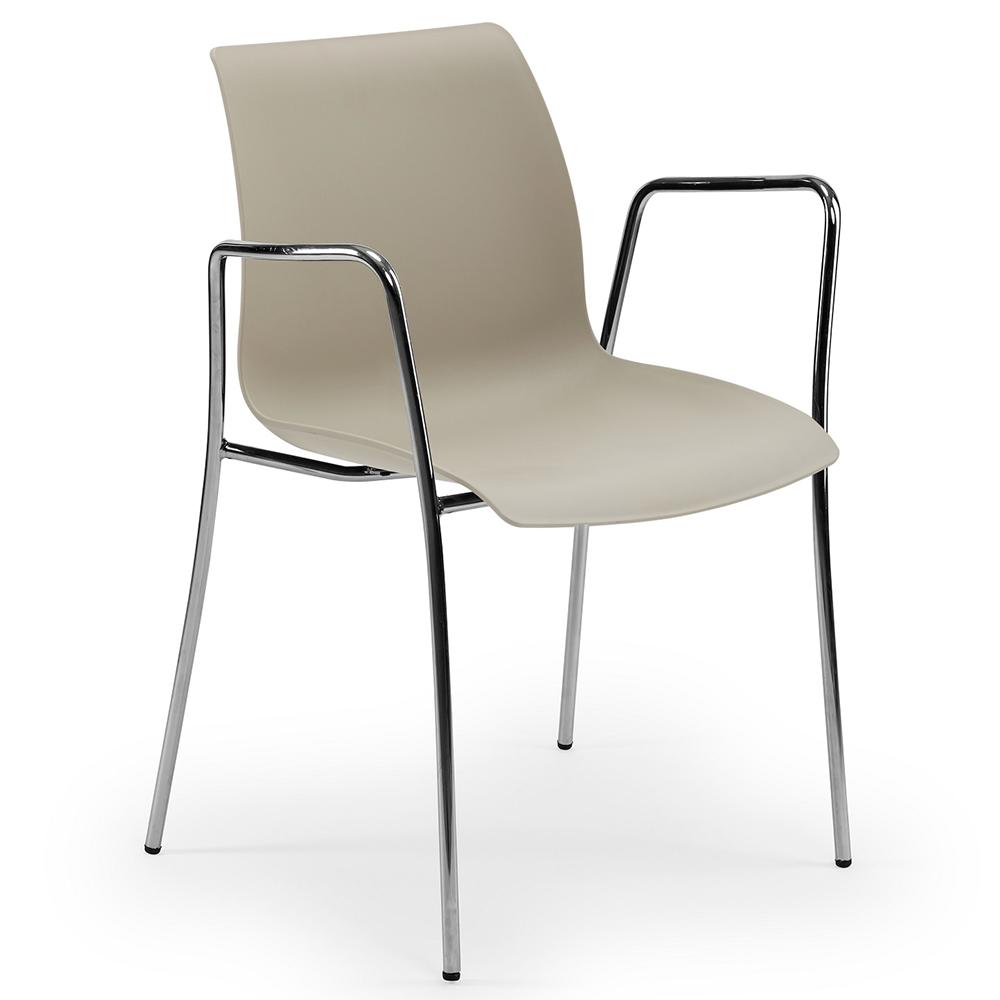 Кресло Tilia Laser ножки хромированные бежевое