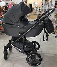 Детская универсальная коляска 2 в 1 Mikrus Comodo Silver (темно-серый цвет)
