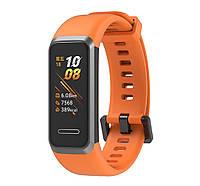 Силиконовый ремешок Primo для фитнес браслета Huawei Band 4 - Orange