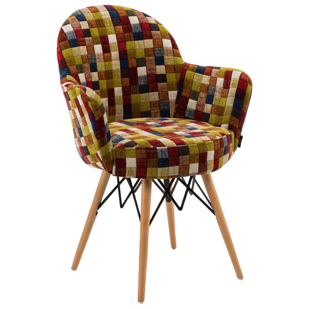 Кресло Tilia Gora-V ножки буковые, сиденье с тканью COLOURBOX 7701