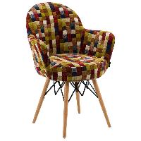 Кресло Tilia Gora-V ножки буковые, сиденье с тканью COLOURBOX 7701, фото 1