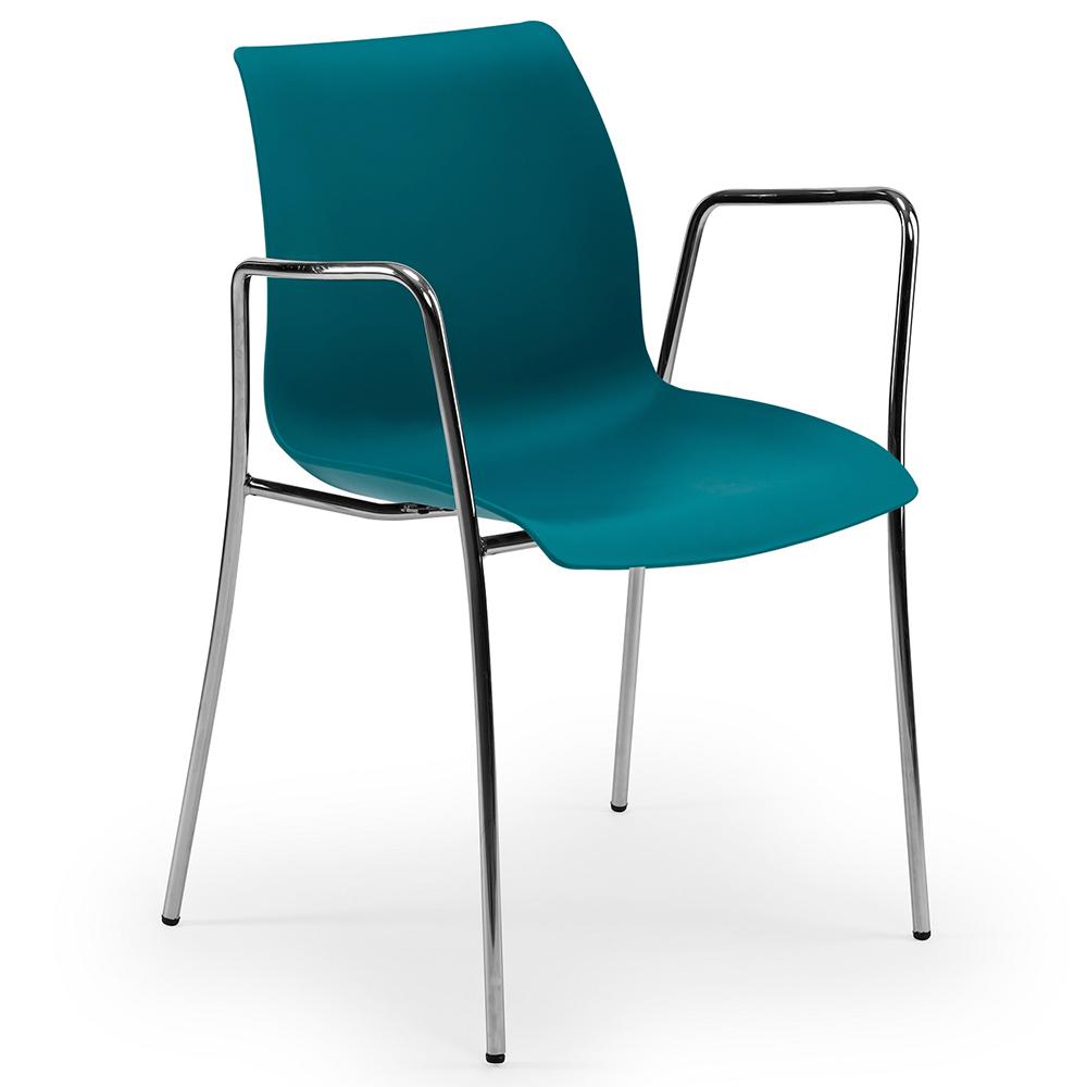 Кресло Tilia Laser ножки хромированные зеленая нефть