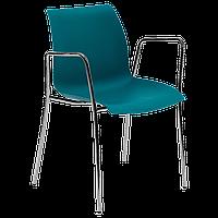 Крісло Tilia Laser ніжки хромовані зелена нафта, фото 1