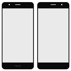 Стекло модуля для Huawei Honor 8 black, фото 2