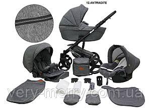Детская универсальная коляска 2 в 1 Mikrus Comodo Silver (серый цвет)