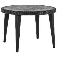Стол Tilia Osaka d110 см ножки пластиковые черный, фото 1