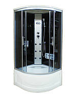 Гидромассажный бокс Sunlight 470 R стекло 90 G 90х90х215 см Черный с белым, КОД: 1371057