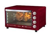 Духовка электрическая Liberton LEO-651 Dark Red с конвекцией грилем и подсветкой 65 литров