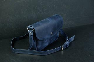Сумка жіноча. Шкіряна сумочка Мія, Вінтажна шкіра, колір Синій, фото 3