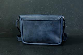 Сумка жіноча. Шкіряна сумочка Мія, Вінтажна шкіра, колір Синій, фото 2