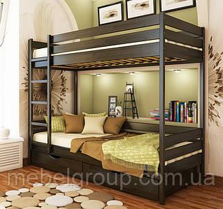 Двоярусне ліжко Дует Щит, з ящиками