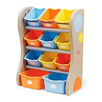 Органайзер Step2 Fun time room organizer 89х67х36 см синие и оранжевые ящики (728900)