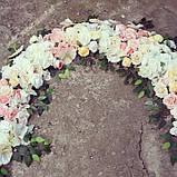 Гирлянда бело-розовая цветочная, фото 2