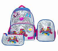 Рюкзак школьный  с пеналом и ланчбоксом   Glossy Bird GB2272