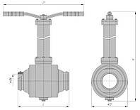 Кран шаровой подземный под приварку РN63 с ручным управлением DN 50