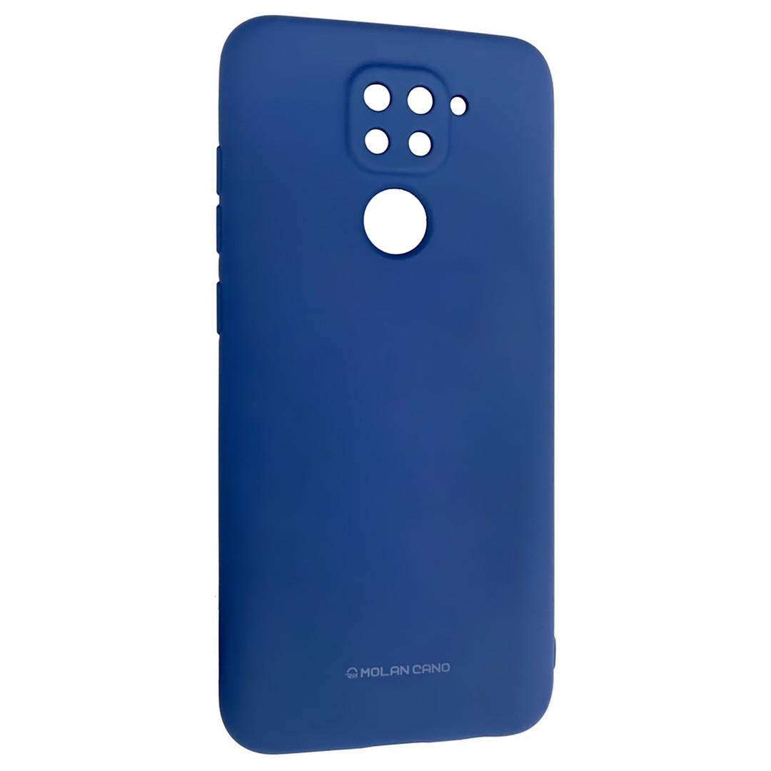 Оригинальный силиконовый чехол для Xiaomi Redmi Note 9, Molan Cano, синий