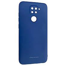 Оригінальний силіконовий чохол для Xiaomi Redmi Note 9, Molan Cano, синій