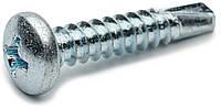 Саморез по металлу 3.5х16 DIN 7504N с полукруглой головкой и сверлом оцинкованный