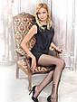 Жіночі  тілесні капронові тонкі колготки CONTE FANTASY FLOCK тату-малюнком  20 Den, фото 2