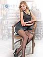 Жіночі тонкі тілесні капронові колготки Conte fantasy shake з тату-малюнком 20 Den графіт, фото 2
