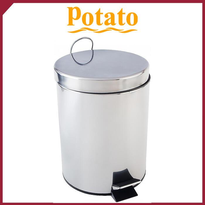 Ведро для мусора круглое нержавеющее POTATO 12л P414