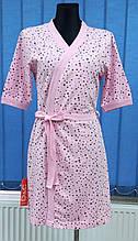 Халат женский D&C fashion звездочки на розовом, 0739