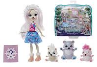 Игровой набор Enchantimals Семья белой медведицы Пристины и полярные мишки Mattel GJX47