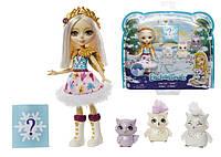 Игровой набор Enchantimals Семья полярных сов с сюрпризом Mattel GJX46