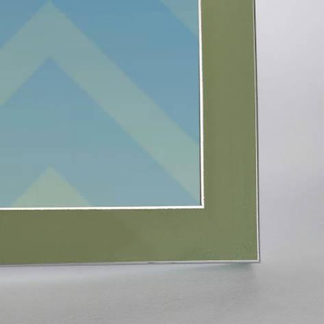Рамка А4 20х30 серо- зеленая с серебряными полосками для фото диплома настенная со стеклом Укр Рамки, фото 2