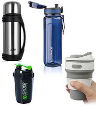 Бутылка, термос, термокружки, чашки