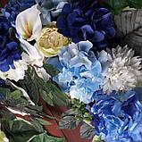 Квіткова композиція на арку синьо-блакитна, фото 4