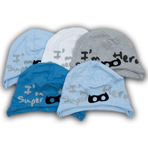 Трикотажные шапки на завязках для мальчиков