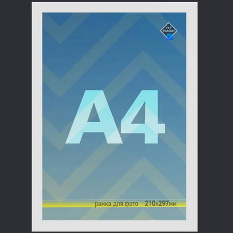 Рамка А4 20х30 белая для фото диплома настенная со стеклом Укр Рамки, фото 2