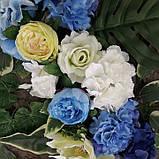 Квіткова композиція на арку синьо-блакитна, фото 3