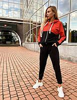 Спортивный костюм с капюшоном двухцветный женский (ПОШТУЧНО)