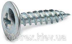 Саморез по металлу 3.9х13 острый с прессшайбой оцинкованный