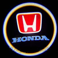 Дверной логотип LED LOGO 004 HONDA , Светодиодная подсветка на двери с логотипом, Лазерная проекция