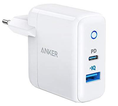 Сетевое зарядное устройство Anker PowerPort2 1xPD & 1xPIQ2.0 White