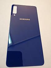 Задняя крышка Samsung A7 2018 A750 Синяя